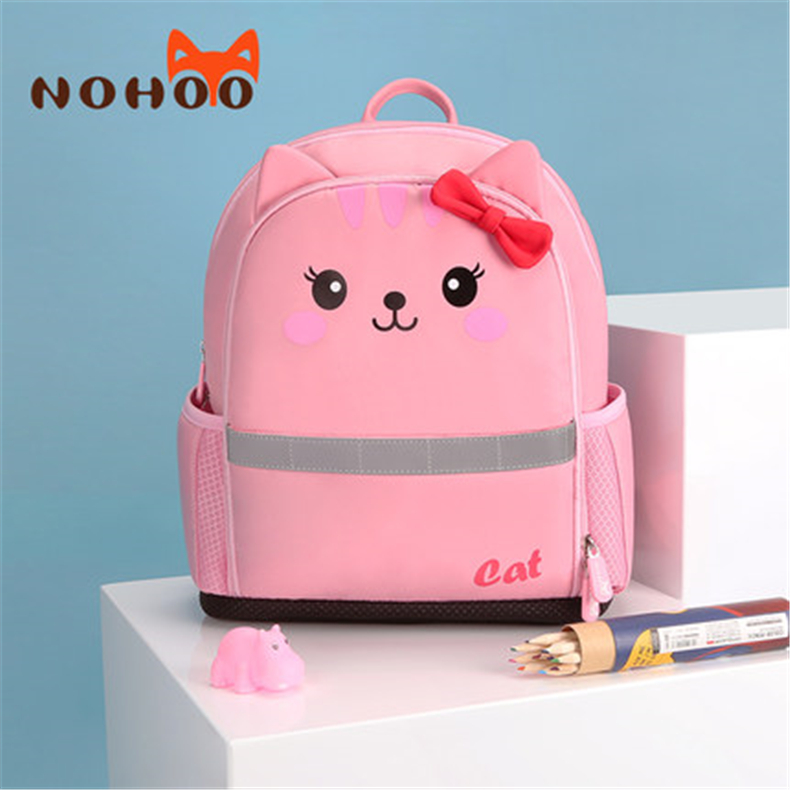 NOHOO school bags for girls 3D Cartoon backpack High quality waterproof mochilas escolares sac a dos