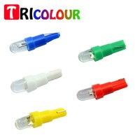 500pcs T5 Socket LED Bulbs With Wedge Base For Dashboards Gauge Bulbs 12V DC F8 Led