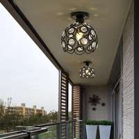 Luz de teto cristal moderna sala estar lâmpada do corredor sol plataforma|Luzes de teto| |  -