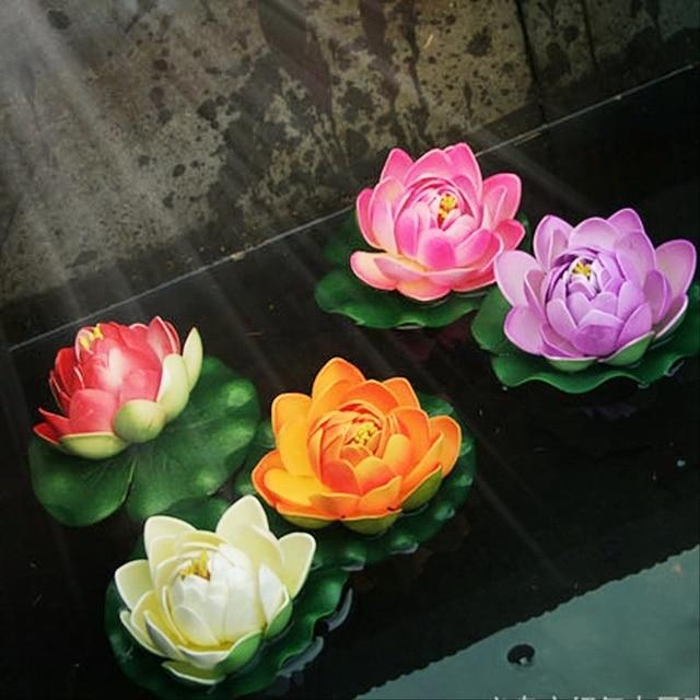 5pcs 10cm Artificial Simulation Lotus Flowers High Budding Queen