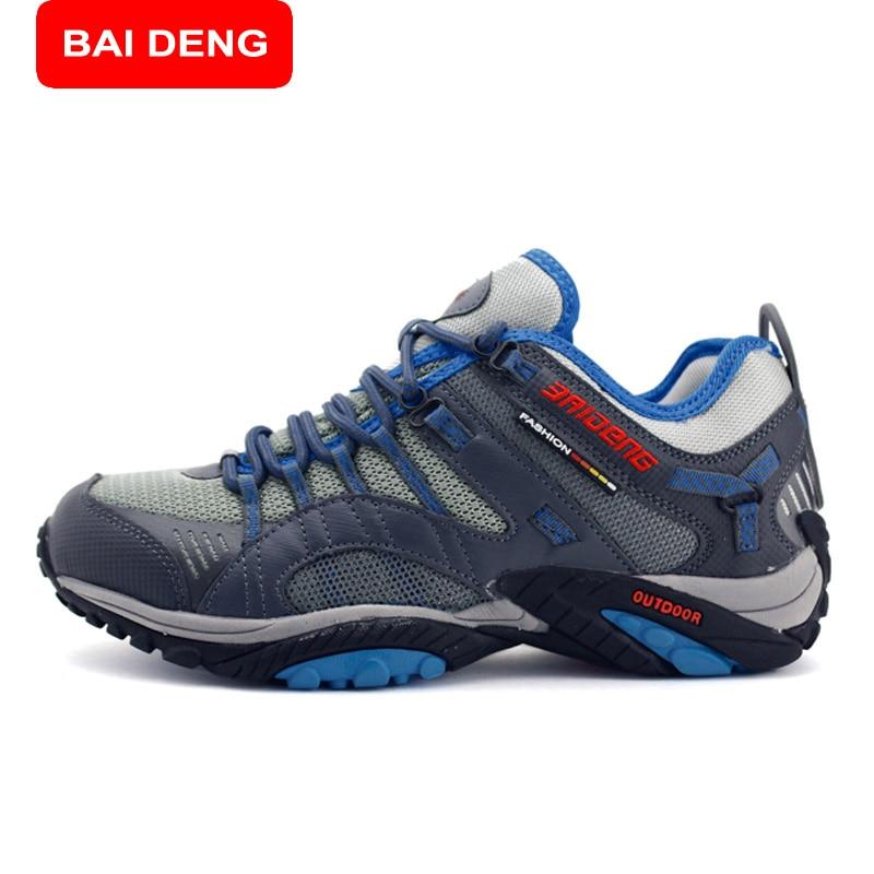 baideng surface waterproof hiking shoes sneakers 2017