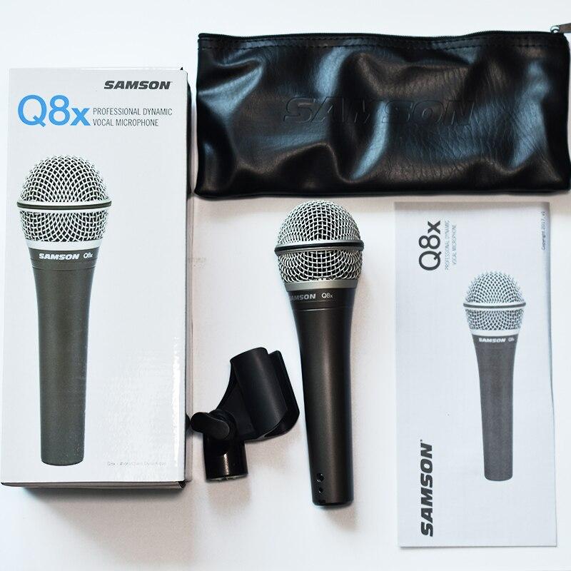 SAMSON Q8X Original Updated version SAMSON Q8 professional dynamic vocal microphone handheld mic with carry bag