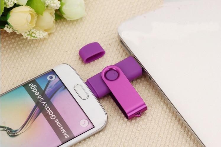 Купить с кэшбэком Mix color wholesale USB Flash Drive 16gb pendrive OTG Smart Phone 4gb Flash Drive 16gb cle usb 32gb USB Flash Drive  50PSC/1bag