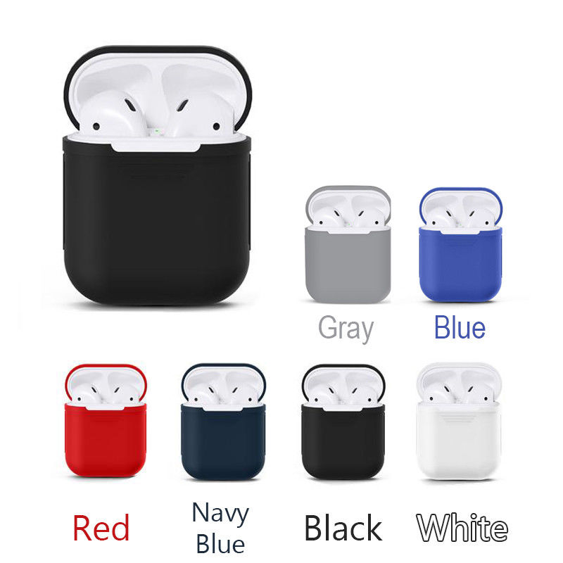 for Airpod case cover accessoire cute earpods air pod case cover luxury silicone airpod case for apple earpods case cover TPU-in Earphone Accessories from Consumer Electronics