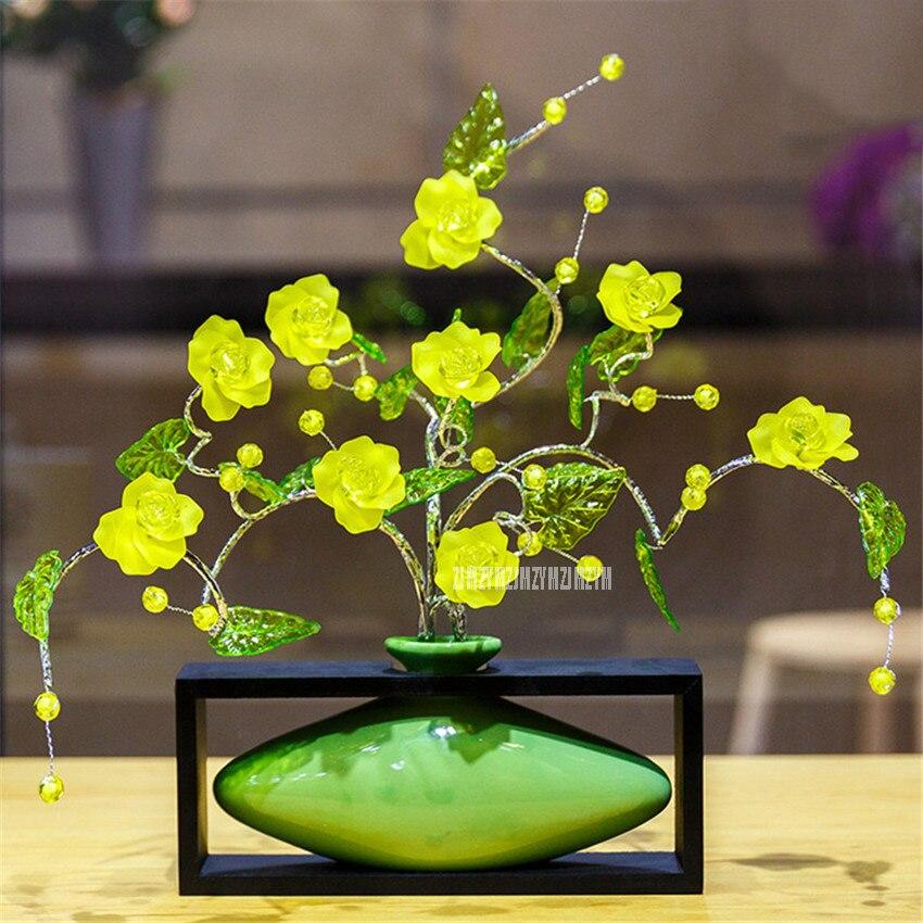 Modern Europe Simple Rectangle Ceramic Vase Ornament ...