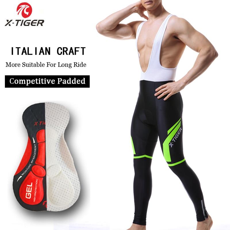 X-Tiger Pro 5D Gel Padded Coolmax Cycling Bib Pants 100% Lycra MTB Bicycle Cycling Trousers Bike Bib Pants Ciclismo Pantalones