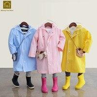 School Kids Raincoat Children Rainwear Poncho Long Boys Yellow Raincoat Baby Girls Kid Capa De Chuva Infantil Impermeable QKR233