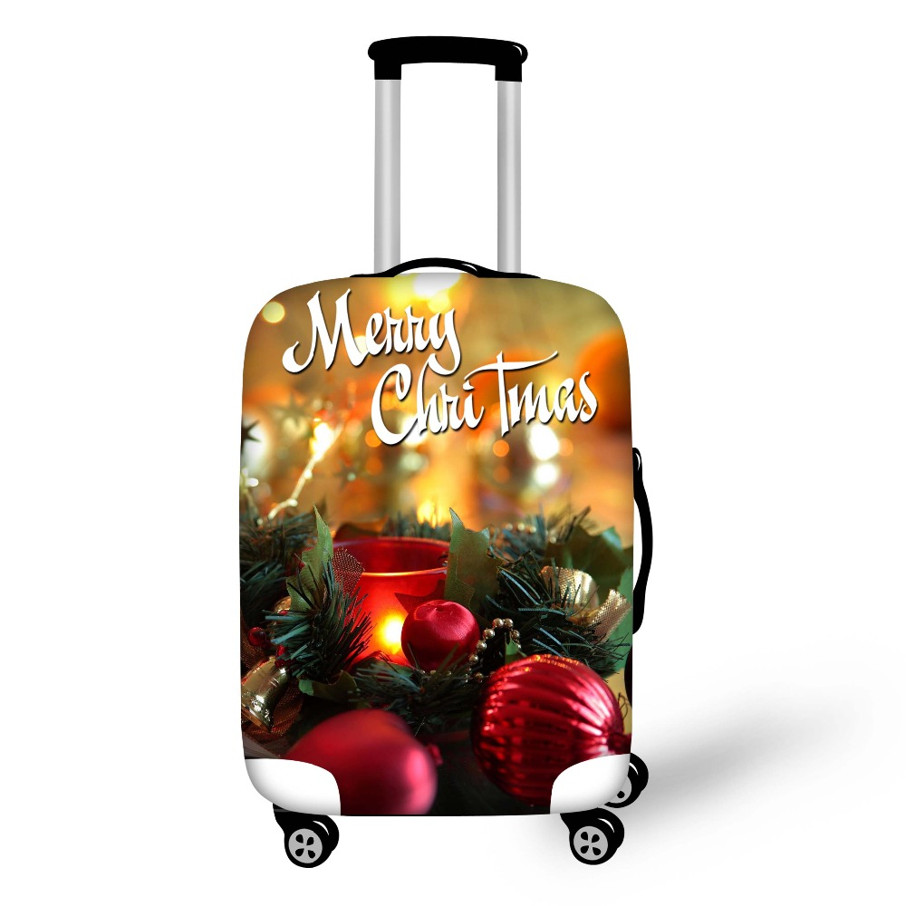 FORUDESIGNS 2018 Design Christmas Printing Luggage Protector Covers Apply 18-28 Inch Children/Women Suitcase Cover Stretch Cover