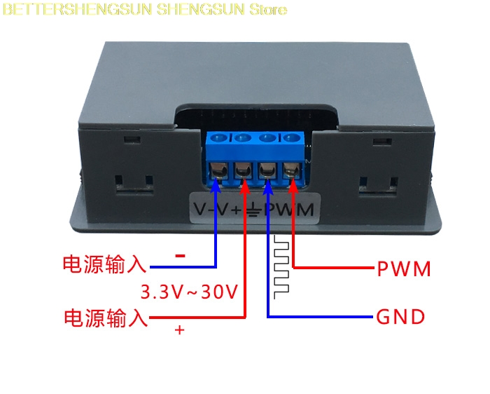 PWM pulse frequency duty cycle adjustable module with case Square wave square wave signal generator XY PWM in ABS Sensor from Automobiles Motorcycles