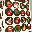 160pcs DIY Scrapbooking Merry Christmas Gift Sticker Cookie/Cake/Gift Labels Stickers Kitchen Sweets Party seal christmas label