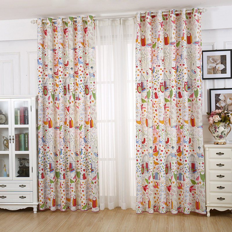 Cartoon child bedroom curtain fluid partition curtain curtains ...