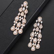 missvikki Austrian crystal Original Brand Gorgeous Pendant Earrings for Women Anniversary Jewelry Actor Dancer Model Stage Show