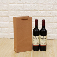 100pcs kraft paper single and double wine bags, wine packing bags, red wine handbags gift bag lin4011