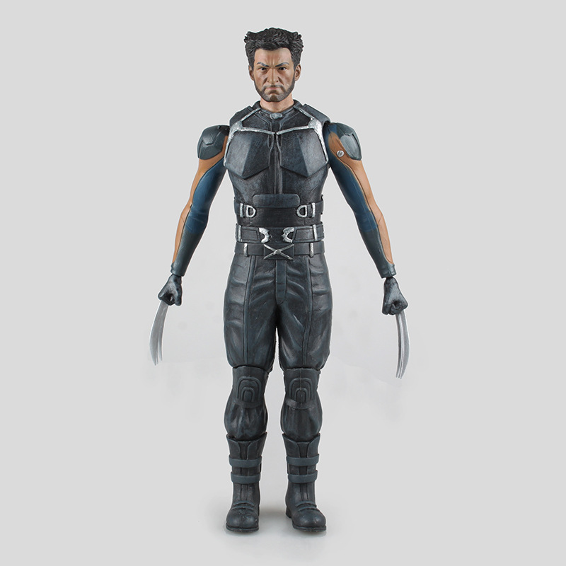 Movie 12 Inch X-Men Wolverine PVC Action Figure Collectible Model Toy Free shipping KB0438 x men deadpool q version pvc action figure collectible toy doll free shipping hrfg279