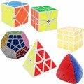 6 Unids Original ShengShou Cubo Mágico (Incluya Skewb, Megaminx, Pyraminx, espejo SQ1 Estrés Relevista Fidget Cubo Juguetes