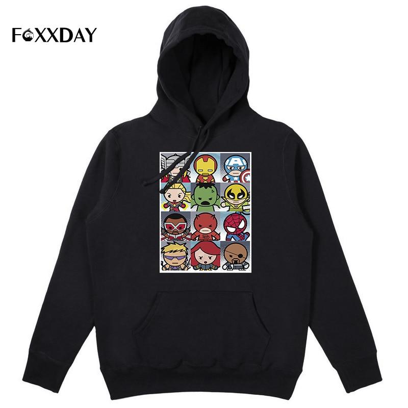 2018 Fashion Marvel Hoodie Men Autumn new The Avengers Superhero cotton high quality Casual sweatshirt hoodies free shipping