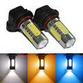 2 unids LED HB4 9006 9012 Bombillas Para coche Luces de Circulación Diurna/Niebla Bombilla Lámparas Blanco Amarillo Ámbar azul