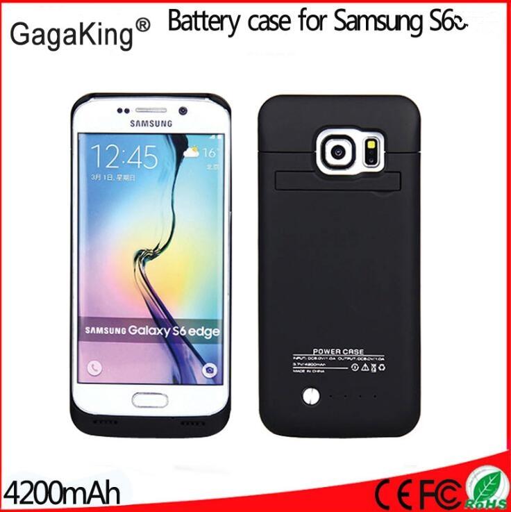 imágenes para Caja de la batería caja de batería del tirón para samsung galaxy s6 s6 4200 mah cargador de batería banco de la energía del caso capa para samsung s6 caso