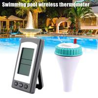 NEW Wireless Thermometer with LCD Receiver Waterproof Temperature Meter for Swimming Pool Spa Hot Tub