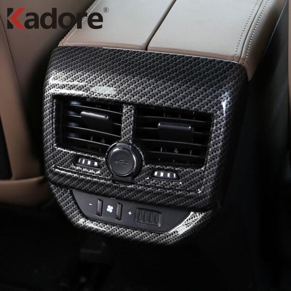 For Peugeot 3008 GT 2017 2018 Interior Accessories Armrest Rear Air Conditonnal Vent Cover Trim AC Outlet Panel Decoration frame