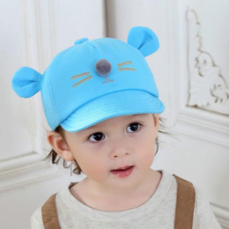 Hat Baseball-Cap Snapback Spring Cartoon-Cap Adjustable Kids Fashion 5-Colors Children