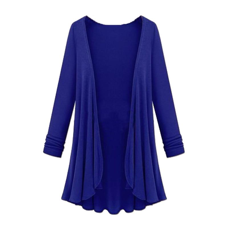 Plus Size XXXL Women Cardigan Autumn Long Sleeve Irregular Open Stitch Over Size Female Camel Sweater Ladies Coat Outerwear