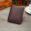 2016 Business PU Leather Purses Men Thin short Clutch Wallet Fashion open Wallets Credit Card Holder Coin Purse D1064-1