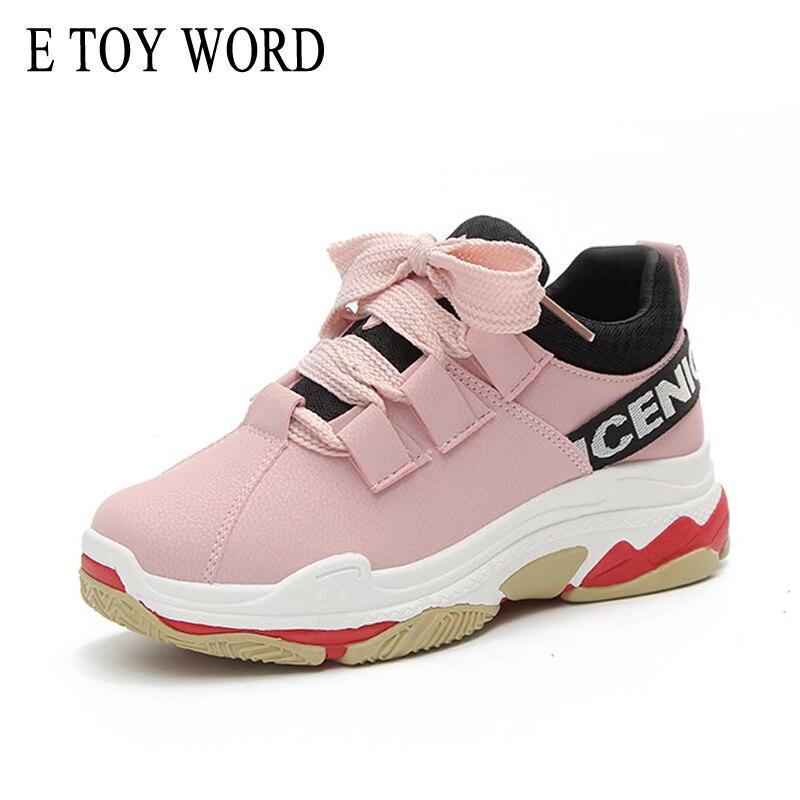 E TOY WORD Spring New 2018 platform sneaker shoes female wind Korean street shoot wild soft Breathable casual women shoes wild wind увлажнитель воздуха купить харьков