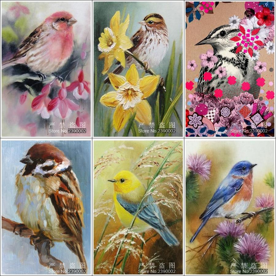 5D DIY dijamantna slika životinja ptice slika dekoracija doma križ - Umjetnost, obrt i šivanje