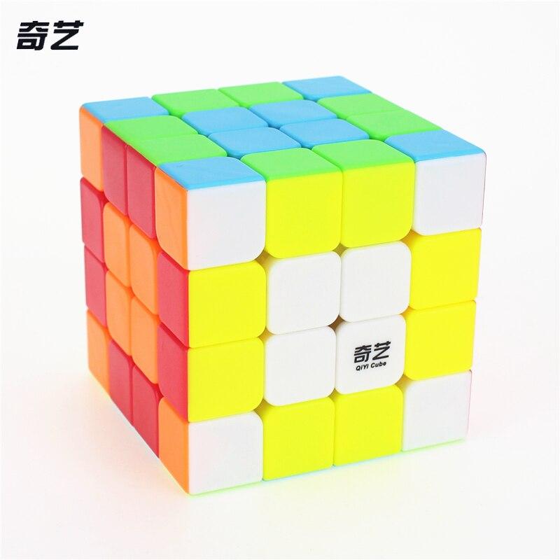 QiYi QI YUANS S 4x4 Magique Cube Concurrence Vitesse Puzzle Cubes Jouets Pour Enfants Enfants cubo stickerless Mat cube