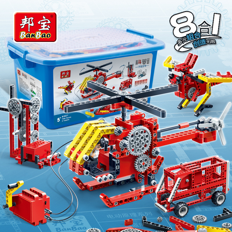 Model building kits compatible with lego city Science education Self powered 3D blocks Educational model building toys hobbies lego education 9689 простые механизмы