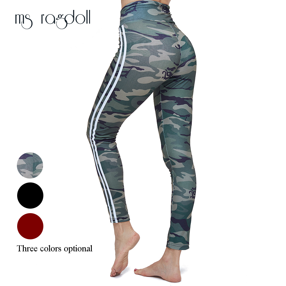 Women   leggings   Sporting Fitness Camouflage Pants Fitness Leggin Slim High Waist Pants Women Sportswear Workout Female Trousers
