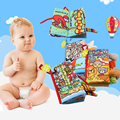 8 Pcs/set Cloth Book 0-36 Months Baby Toys Intelligence Development Soft Rattles Activity Cute Animals Books for infant kids