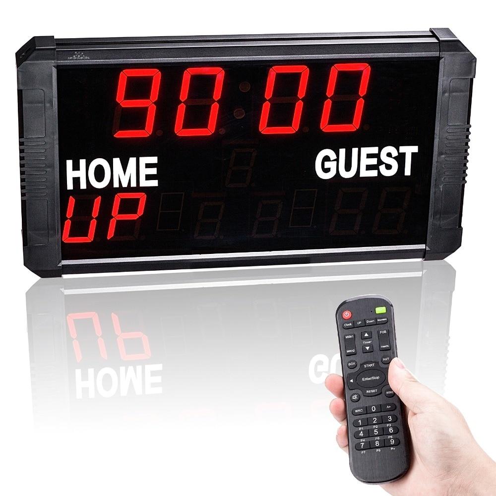 Basketball Time Stopwatch Electronic Scoreboard Football Table Tennis Badminton Game Scoreboard Multi - Function Countdown Card