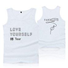 a32002d92f74f BTS LOVE YOURSELF Tank Top Women Fashion Cotton Black Tank Top Men Casual  Funny Vest Summer