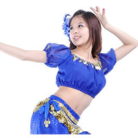 New Sexy Belly Dance Costume Lantern Blouse Bra Top 13 Colors