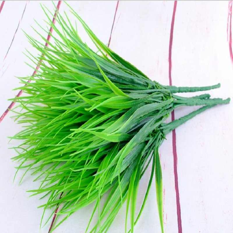 Green grass Artificial plant Flower branch for Birthday Wedding Party home Decoration craft DIY favor baby shower etc Wh