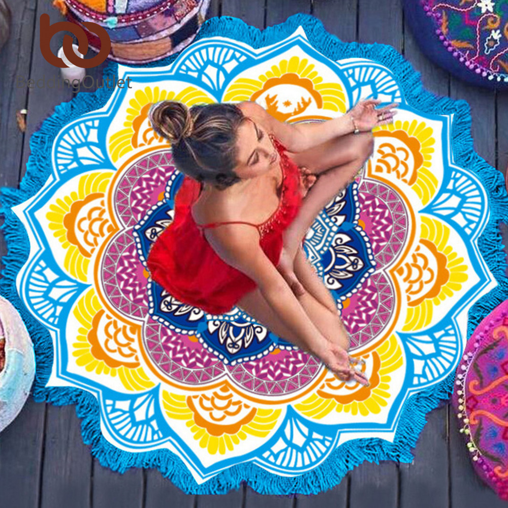 Indian Toalla Mandala Yoga Mat 1