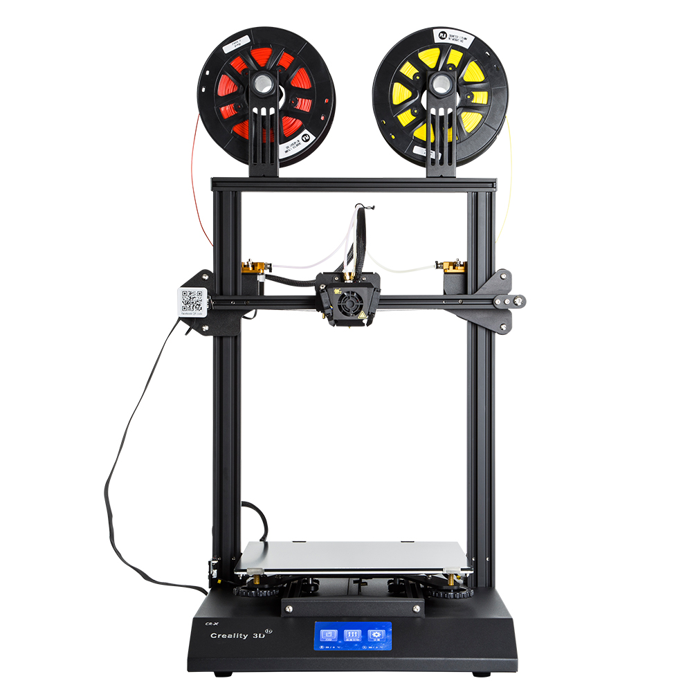 CR X 3D Printer Dual color Nozzle DIY KIT Touch Screen Large Print size Dual Fan Cool Creality 3D CR X n 2KG filament gift-in 3D Printers from Computer & Office    2