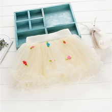 Top Best Lovely Baby Girls Summer Rose Lace Princess Tulle Skirt Wedding Tutu Skirts 1-4Y