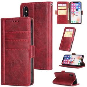 Image 5 - Raccoglitore di Cuoio di lusso di Caso per Il Iphone 8 7 6 6S Plus Slot Card Supporto Del Basamento di Vibrazione Magnetica 360 Libro cover per Iphone X XS MAX XR