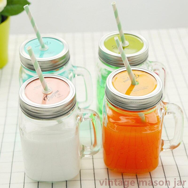 Verano helado fruta instalado bebida fría infusión botella para beber lindas botellas de agua tarro de masón Jarras casa Camping uso