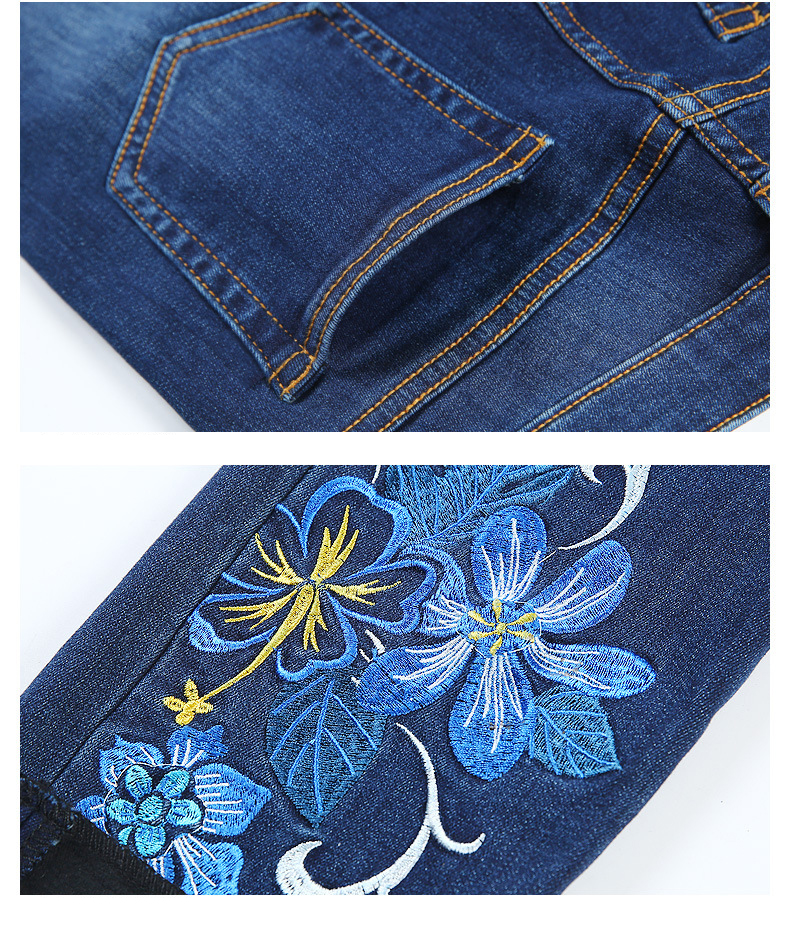 KSTUN FERZIGE Jeans for Women Winter High Waist Fleece Thick Embroidered Denim Pants Stretch Slim Skinny Sexy Ladies Mujer Trousers 36 23
