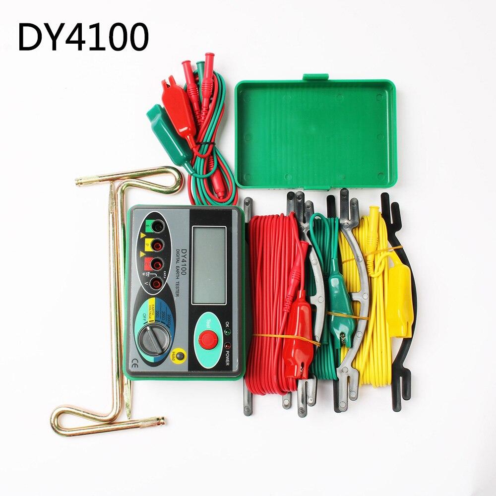 Dy4100 реальный цифровой измеритель заземления dy4100 dy-4100 Сопротивление заземления метр тестер