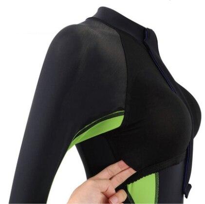 Femmes chaud tissu crème solaire méduse plongée sous-marine combinaison une pièce combinaison Mergulho buceo roupa feminina maillots de bain maillot de bain - 6