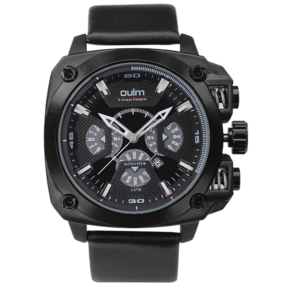 Oulm 3705 brand luxury design army japan movt quartz dz watch male sport montres de marque de for Celebrity quartz watch japan movt