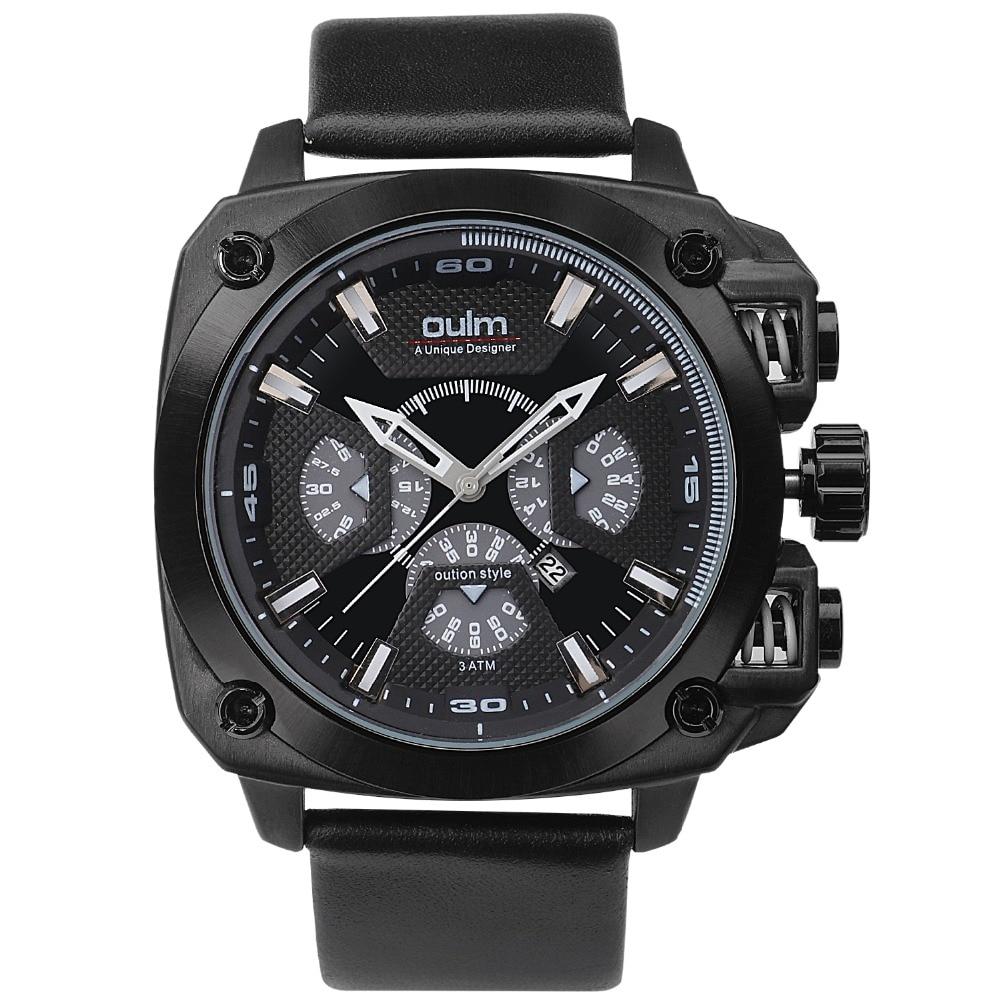 oulm 3705 brand luxury design army japan movt quartz dz watch male sport montres de marque de. Black Bedroom Furniture Sets. Home Design Ideas