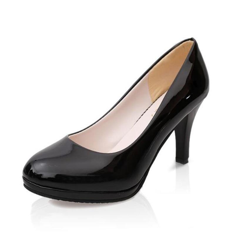 Black 8035 Con Zapatos Alto Las 328 22017 Lss Black Primavera Nuevo Redonda Zapato Mujeres Impermeable Zapatos matte De Y Bright Tacón Verano Mujer Gruesa wwqHfp1
