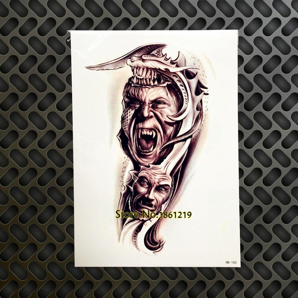 Us 093 Cool Body Art Arm Painting Tattoo Men Women Flash Fake Tattoo Black Ink Henna Shoulder Onderarm Legs Tattoo Paste Sticker Ghb165 In