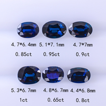 Natural non-optimized Australian Royal Blue Gem Vitreous large diamond face, custom-made, certificated